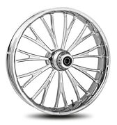 Rc Components Chrome Dynasty 16 Front Wheel And Tire Harley 00-06 Fl Softail