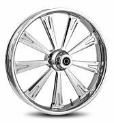 Rc Components Chrome Raider 21 Front Wheel And Tire Harley 07-16 Flst W/ Abs