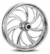 Rc Components Chrome Helix 21 Front Wheel And Tire Harley 00-06 Fl Softail