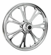 Rc Components Chrome Epic 21 Front Wheel And Tire Harley 00-07 Flh/t