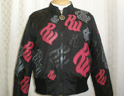 Rocawear Insulated Jacket Nylon Leather Trim Size M Hot Unique Wow Only Here