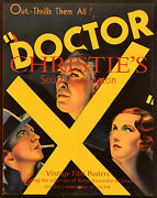 Vintage Film Posters 2002 Doctor X Lionel Atwill Uk Auction Catalogue