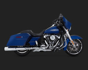 Vance And Hines Chrome Power Duals Head Pipes Headers 17-up M8 Harley Touring Fl