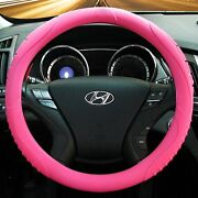 Masada Premium Silicone Car Steering Wheel Cover Pink - One Size Fits All