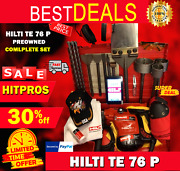 Hilti Te 76 P Preowned Free Tablet Bits Chisel Extras Fast Ship
