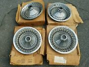 Nos Mopar Dodge Plymouth Charger Road Runner 14 Wire Wheel Hubcaps 1970s