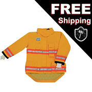 Morning Pride Rng-240d Turnout Fireman Jacket Yellow 3xl 58 In Chest 29-35 Arm