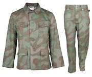 Ww2 German Army Wh M43 Splinter Field Tunic And Trousers Military Uniform S