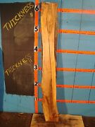 8844, 4 1/16 Thick Spalted Tiger Maple Live Edge Slab Mantel Lumber Wood