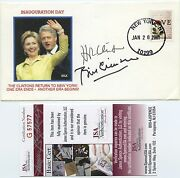 President Bill Clinton And Hillary Clinton Signed First Day Cover Jsa Coa