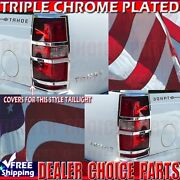 2007-2014 Chevy Tahoe Suburban Chrome Abs Tail Light Bezel Covers Overlays Trims