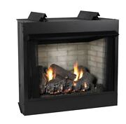 Deluxe 36 Vf Ff Firebox Ss Log Set Liner And Slope Glaze Burner - Lp