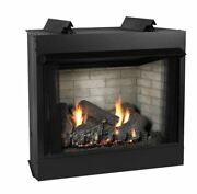 Deluxe 42 Vf Ff Firebox Sco Log Set Liner And Slope Glaze Burner - Ng