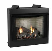 Deluxe 36 Vf Ff Firebox Co Log Set Liner And Slope Glaze Burner - Lp