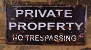 Private Property Metal Tin Signs Antique Metal Painting Home Pub Bar Decor
