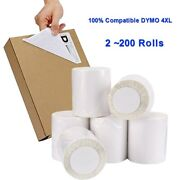 Dymo 4xl Direct Thermal Shipping Postage Labels 4x6 1744907 Compatible 220/roll