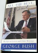 Antiquarian Book Collectable Signed President George Bush All The Best