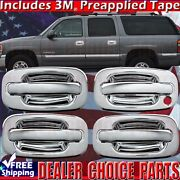 2001-2006 Silverado Sierra 2500 3500 Chrome Door Handle Covers 4dr W/out Psk