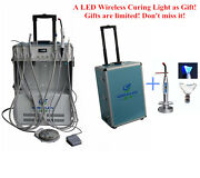 Dental Portable Delivery Unit With Air Compressor 4h + Wireless Led Curing Light