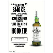 """Laphroiag """"salt Peat And Smoke """" Poster 18 By 27 New"""