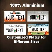 Georgia State Auto Motorcycle Personalized License Plates Fridge Magnet 2x3.5