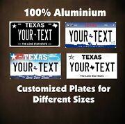 Texas State Auto Motorcycle Personalized License Plates Fridge Magnet