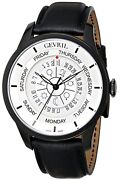 Gevril Menand039s 2006 Columbus Circle Automatic Black Astrological Symbols Watch