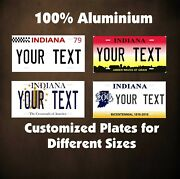 Indiana State Auto Or Motorcycle Personalized License Plates Custom Tag