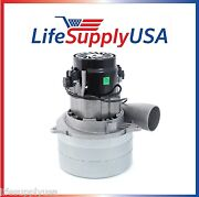 Central Vacuum Boat Lift 3 Stage Motor Tangent Blower Metal Horn 5.7 W/ Wires