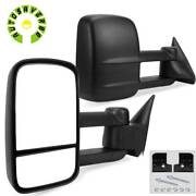 Pair For 88-98 Chevy Gmc C/k 1500 2500 3500 Obs Manual Trailer Towing Mirrors