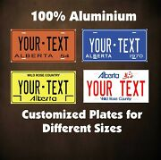 Alberta Canada Tag Car Auto Or Motorcycle Custom Personalized License Plates