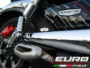 For Triumph Rocket Iii 2006-2015 Zard Exhaust Penta Carbon Silencers Only 3.7kg