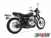 Kawasaki W800 Zard Exhaust Full System Ceramic Black Coat With Conical Silencer