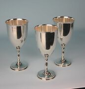 Rare Juvent Lopez Reyes Modernist Mexican Sterling Silver Water Goblets