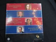 2015 Presidential Dollar 8-coin Mint Uncirculated Set In Shrink Wrap And Coa