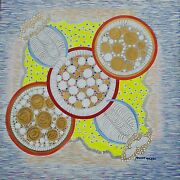 New Unique Acrylic Art Piece Painting Named And039starnetand039 By Maxine Mclean