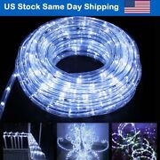 Christmas Landscape Led Rope Light For Party Decor 4mode-cool White With Remote