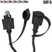 Cat6 Rj45 Outdoor Industrial Ethernet Network Shielded Sftp Patch Cable Dust Cap