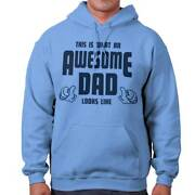 This Guy Is An Awesome Dad Father Papa Gift Mens Hooded Sweatshirts Hoodie Tops