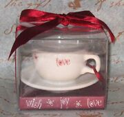 Starbucks Ornament - White Cappucino Cup And Saucer 2005 192168