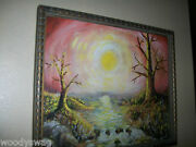 One Of A Kind Painting Dark Gothic Garden Eden After The Fruit Signed Goth