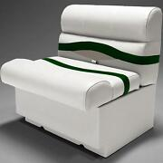 Premium 28 Pontoon Boat Seats In Ivory Green And Tan