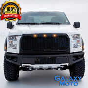 15-17 Ford F150 Raptor Conversion Style Black Front Bumper With Skid Plate