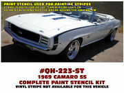 Ge-qh-223 1969 Chevy Camaro - Ss Side Paint Stencil - Fenders And Doors