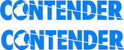 Contender Boat Decal Stickers Graphic Kit Vinyl Decal Boat Stickers 2pc 6x36