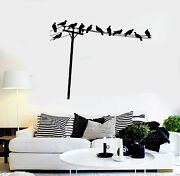 Vinyl Wall Decal Birds On Telephone Wires House Interior Stickers Ig4118