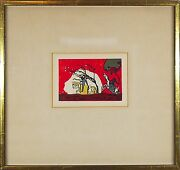 Wassily Kandisky Russian,1866-1944 Original Color Woodcut Print Two Riders