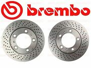 Brembo Set Of 2 Front Brake Rotors Boxster And Cayman 2.7-liter New