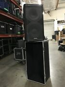 Pair Of Qsc Hpr 122i 12 2 Way Powered Loud Speakers With Bag Includes 2