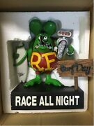 Used Rat Fink Surf All Day Race All Night Color Green Withouter Box
